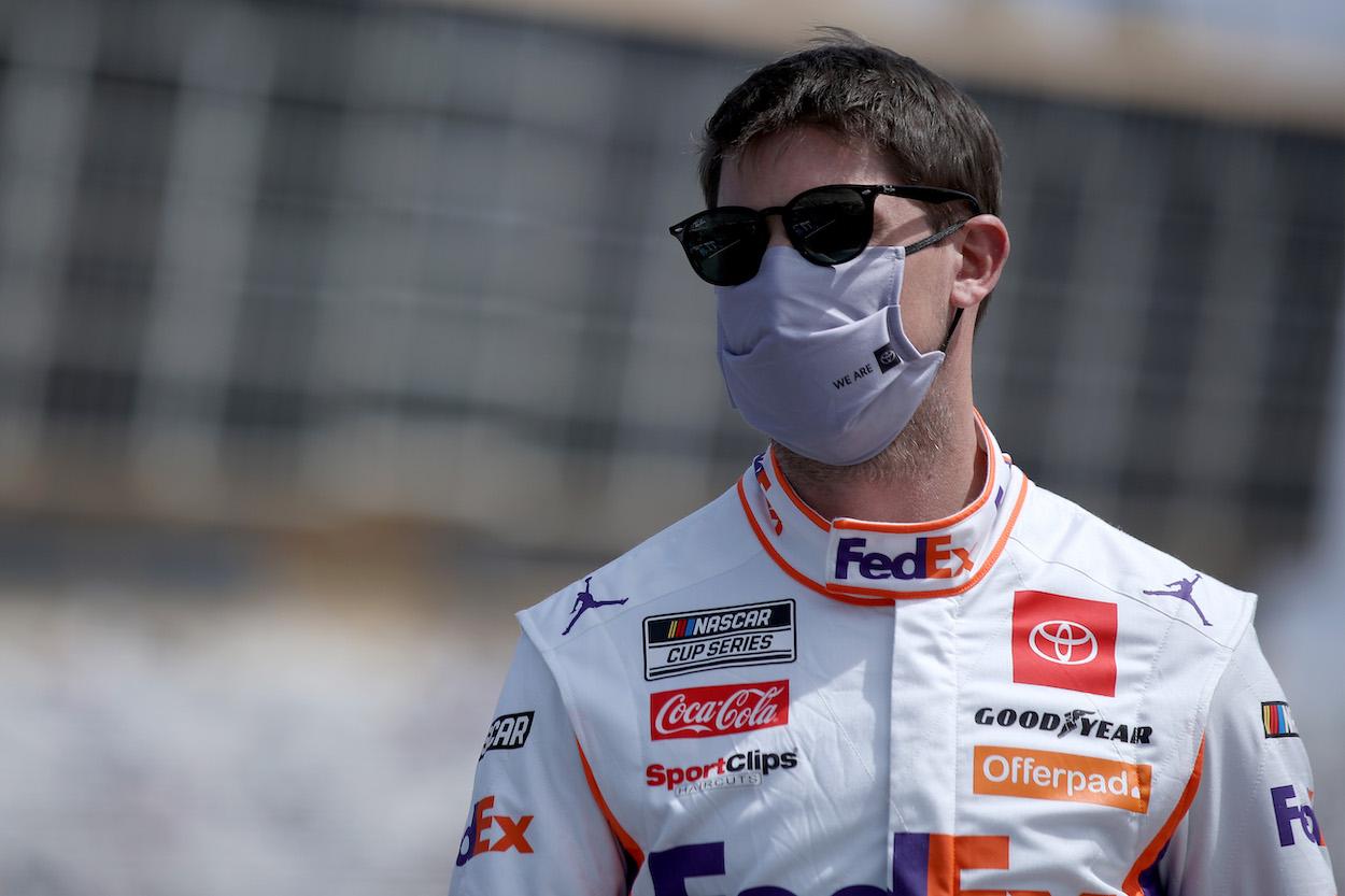 Denny Hamlin before NASCAR Cup Series race