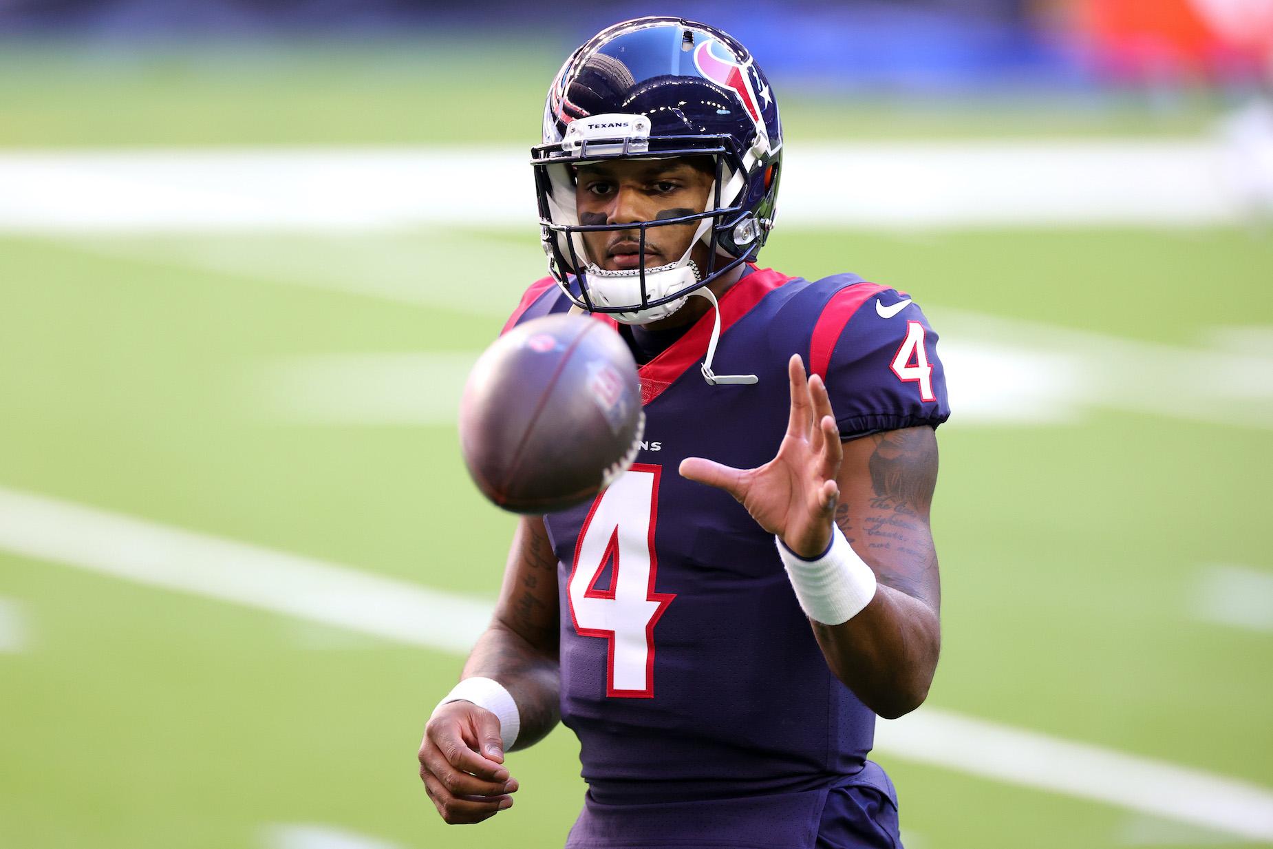 Houston Texans quarterback Deshaun Watson in NFL action