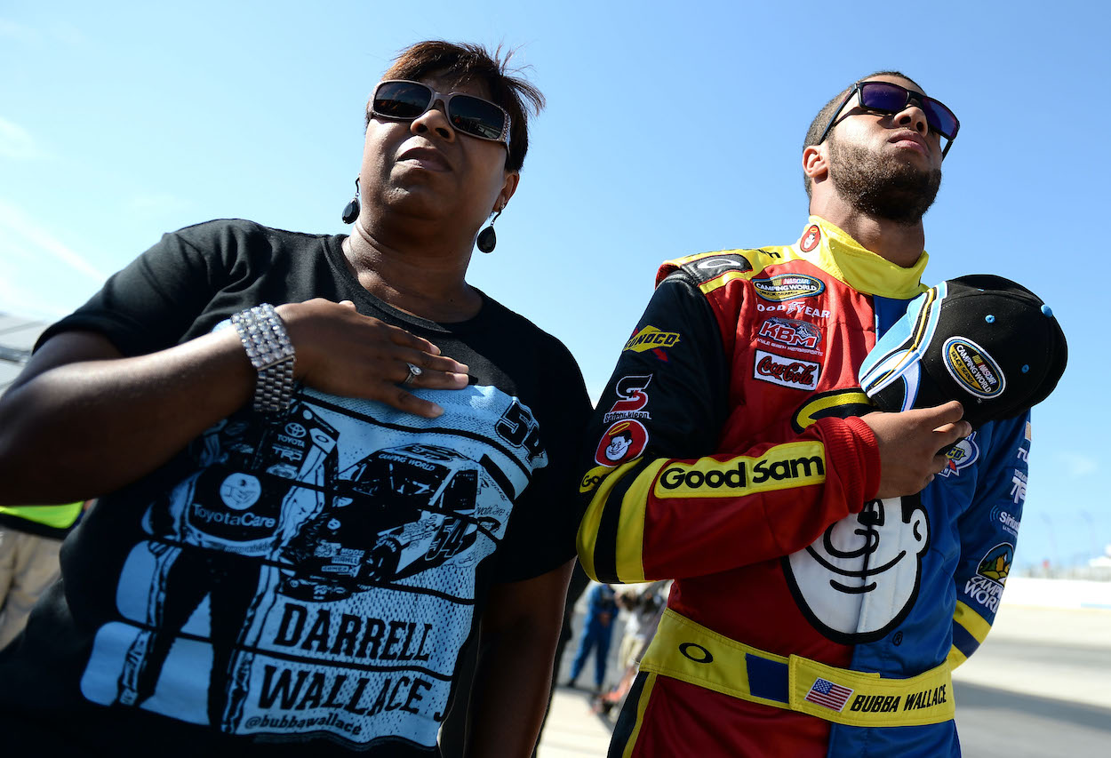 Bubba Wallace always knew he wanted to be a NASCAR driver, but his mother wasn't convinced at first that she wanted him to follow that path.
