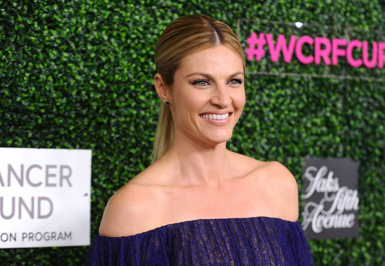 Sports reporter and broadcaster Erin Andrews, whose husband is former NHL player Jarret Stoll.