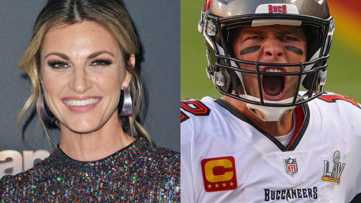 NFL reporter Erin Andrews and Buccaneers quarterback Tom Brady.
