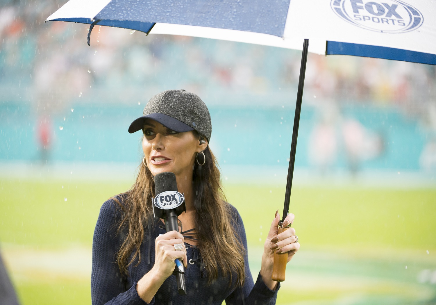 Holly Sonders was a top golfer in the junior ranks who attended Michigan State on scholarship before beginning a career in broadcasting. | Doug Murray/Icon Sportswire via Getty Images