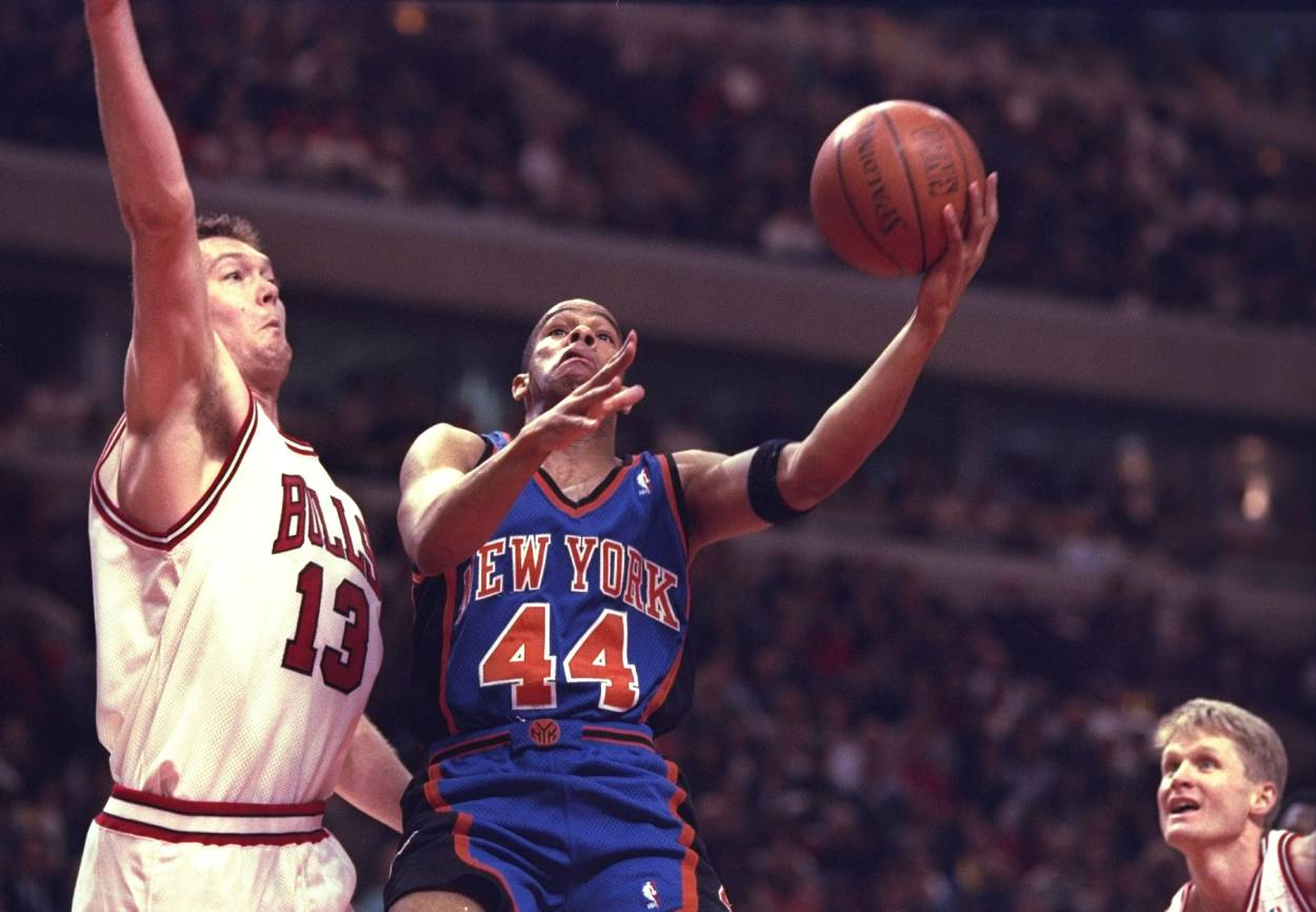 New York Knicks guard Hubert Davis in 1996.
