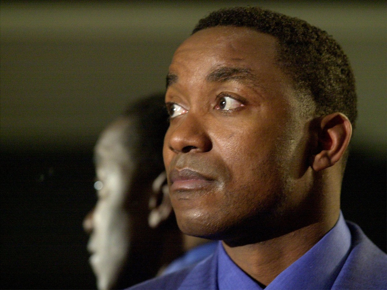 Isiah Thomas ahead of the announcement that he would be inducted into the Hall of Fame