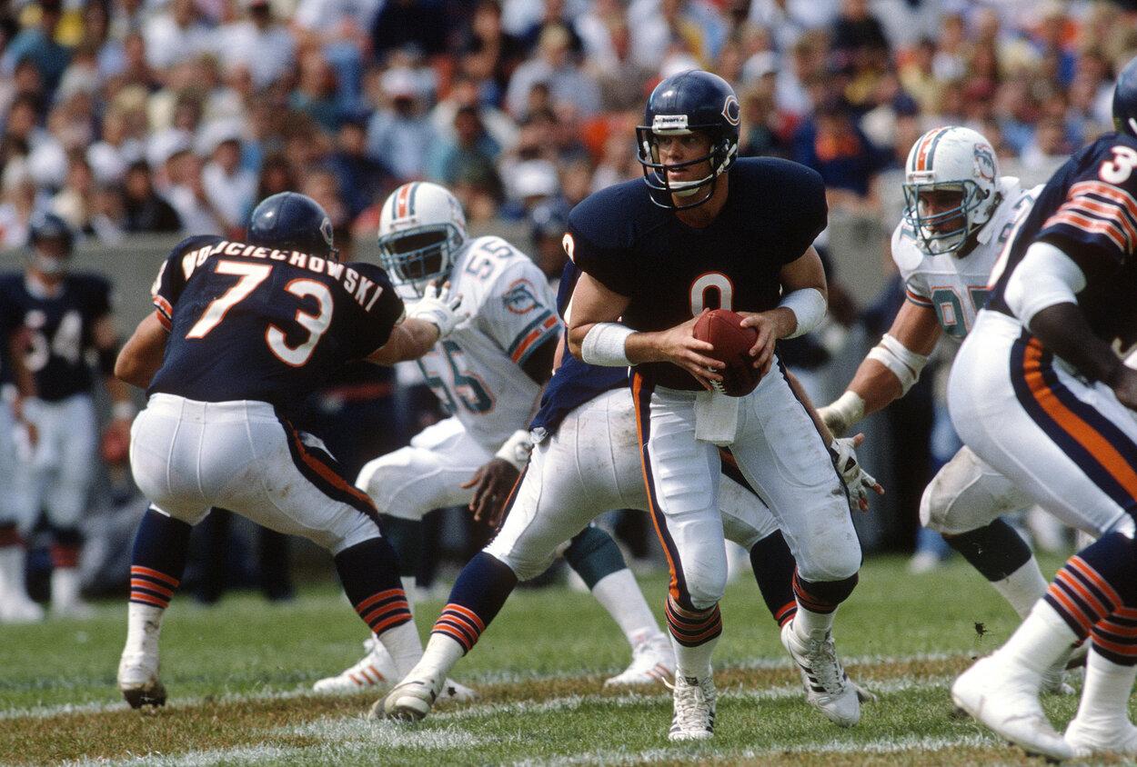 Chicago Bears quarterback Jim McMahon in 1988.