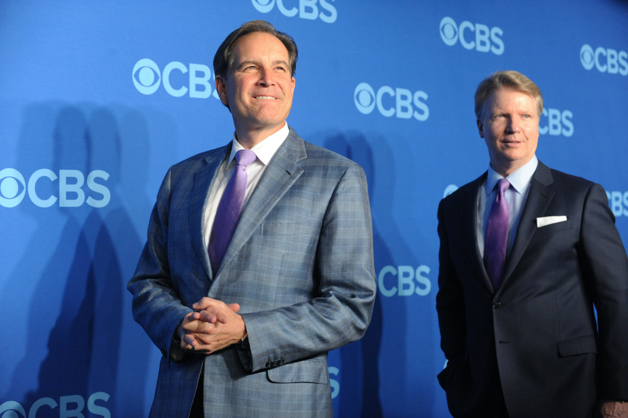 CBS broadcasters Jim Nantz and Phil Simms