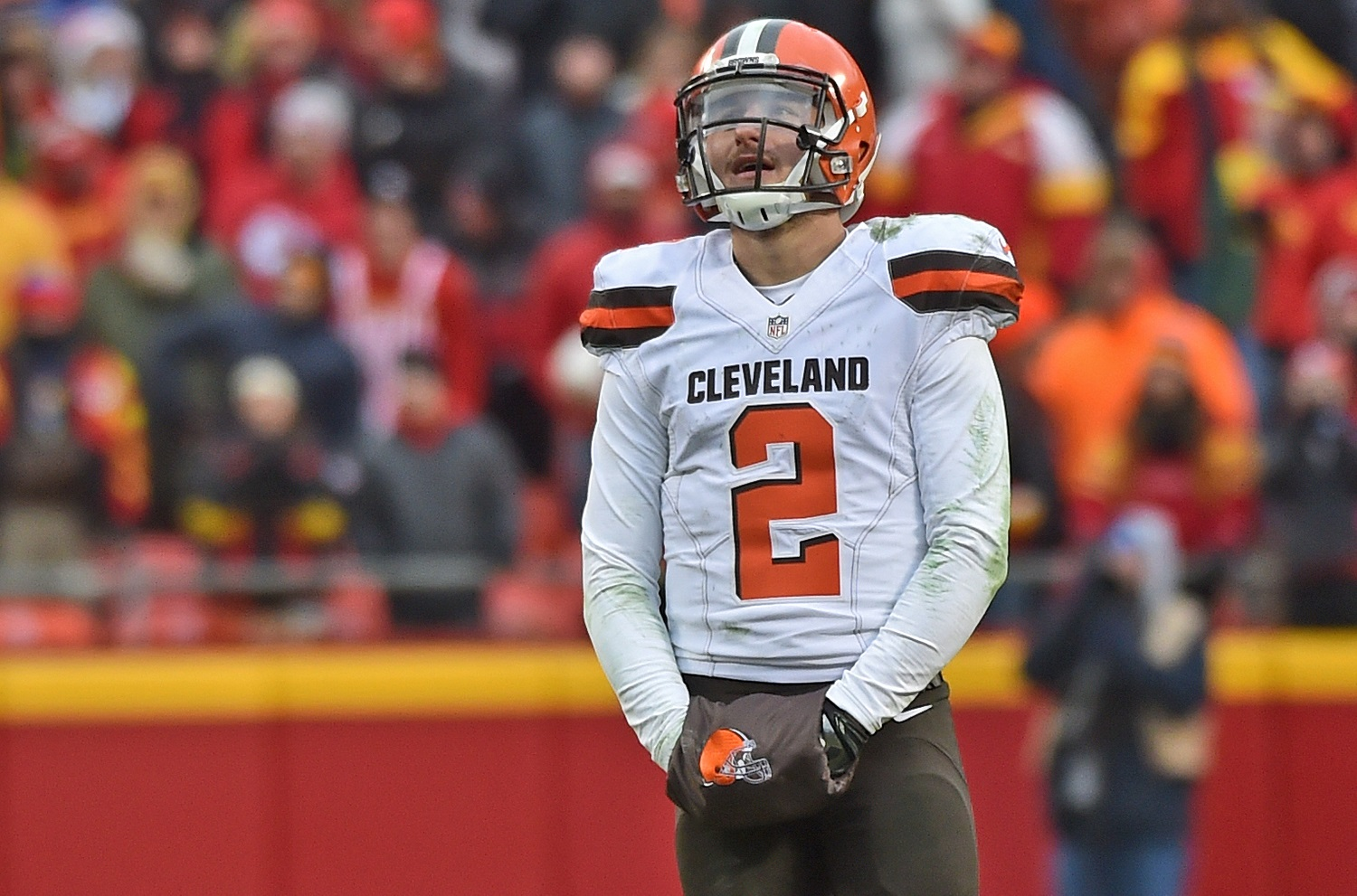 Johnny Manziel highlights the Cleveland Browns' astonishing list of first-round quarterback misses in the NFL draft.