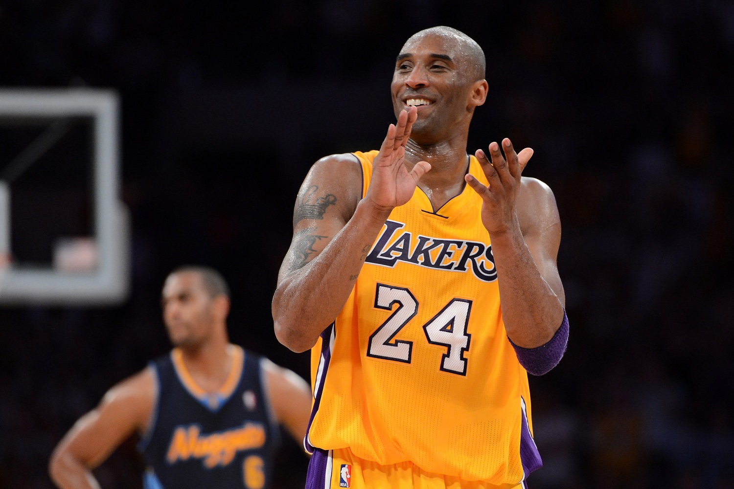 Kobe Bryant grew up in Italy, where he spent some of his time playing soccer. Bryant credited that sport with improving his vision for making plays on the basketball court. | Harry How/Getty Images