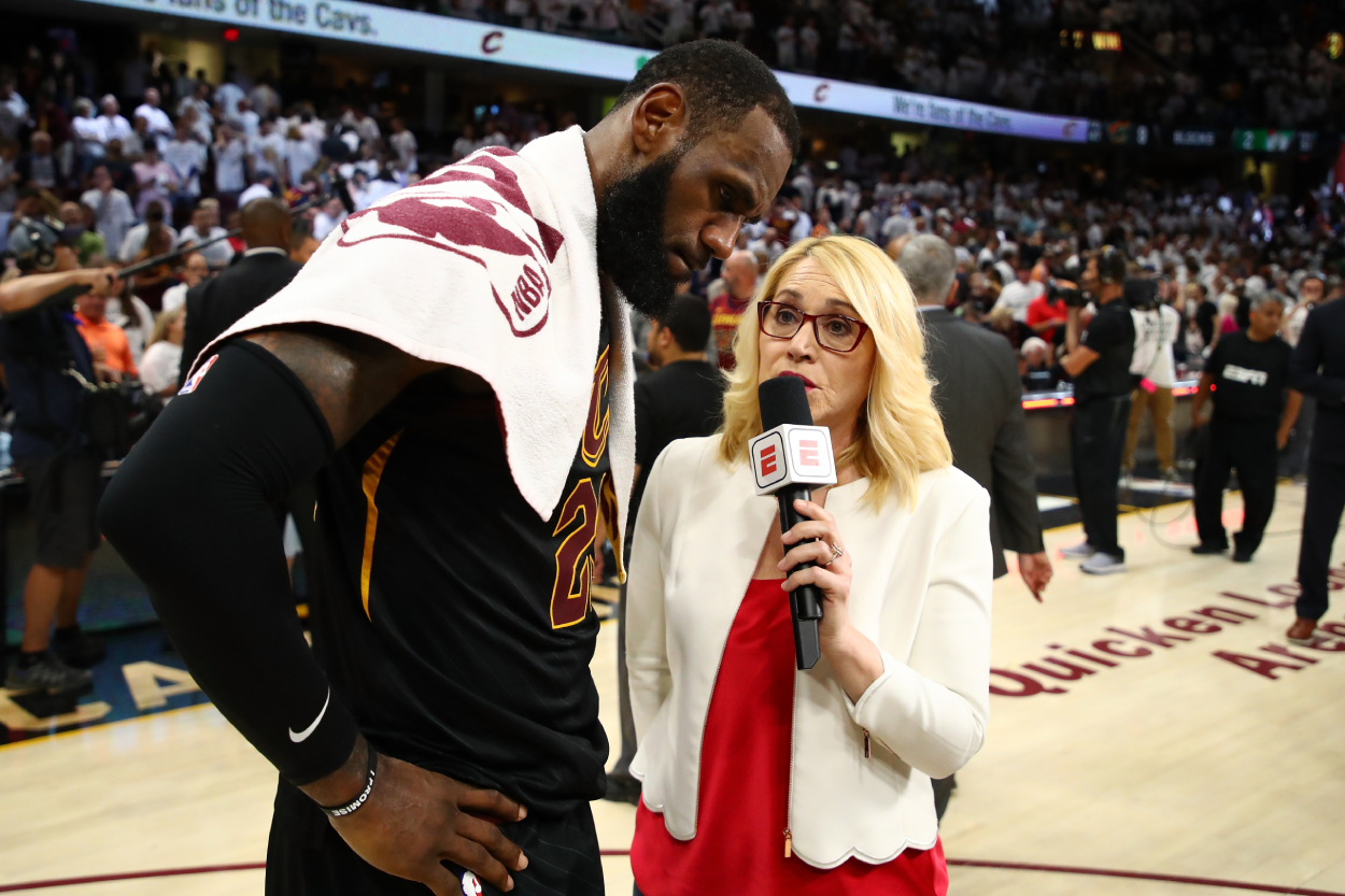 LeBron James' Raw Emotions Made Doris Burke Do Something She Had Never Done on Live TV