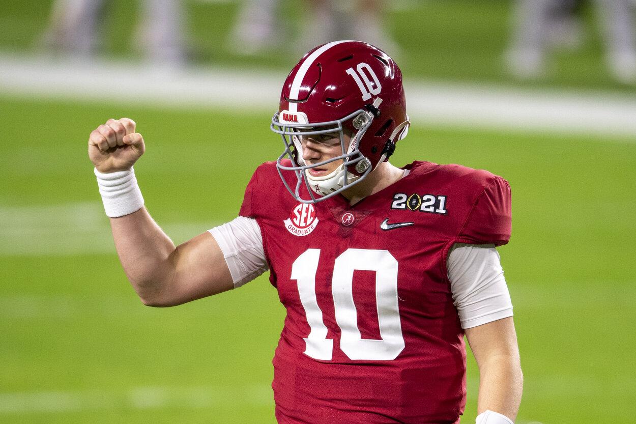 Alabama quarterback Mac Jones in 2021.