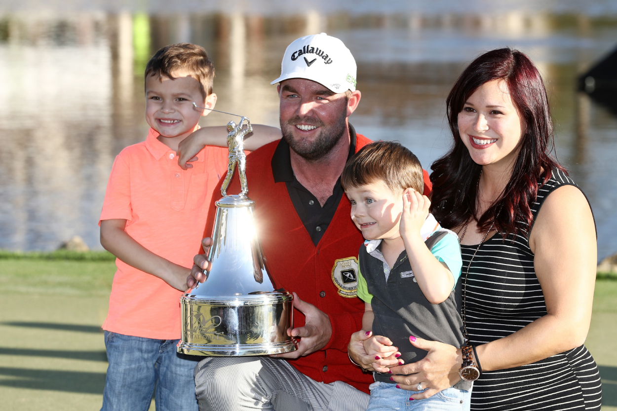 Golfer Marc Leishman and his family at the 2017 Arnold Palmer Invitational.