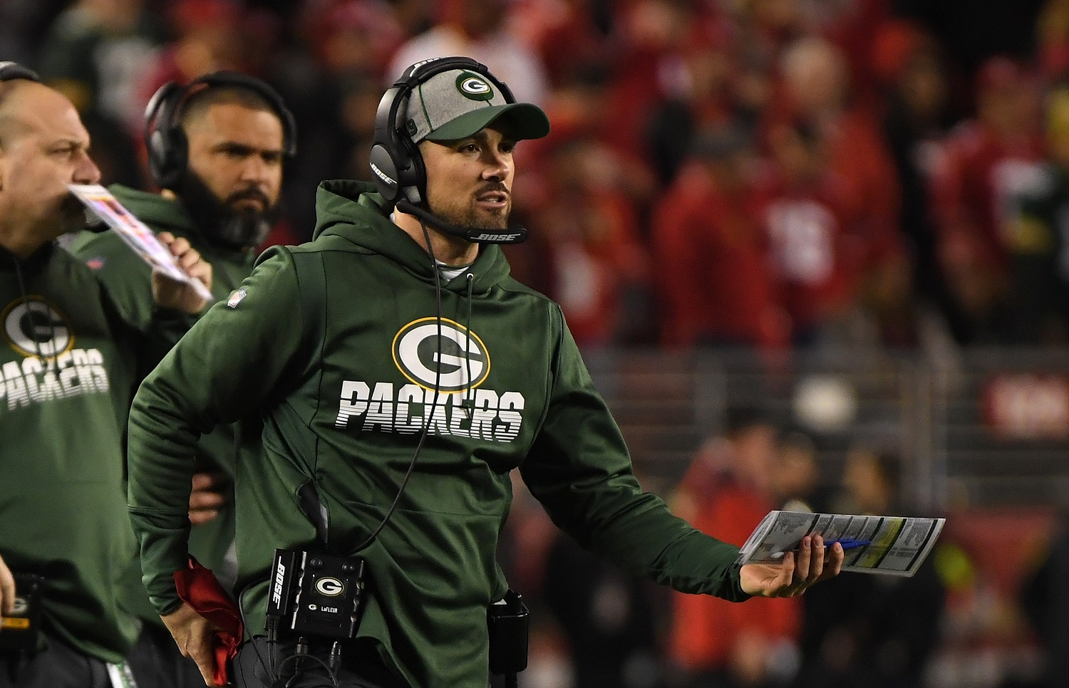 The Green Bay Packers have gone 13-3 in each of the past two seasons under Matt LaFleur. They will bolster their roster with 10 picks in the upcoming NFL draft. | Harry How/Getty Images
