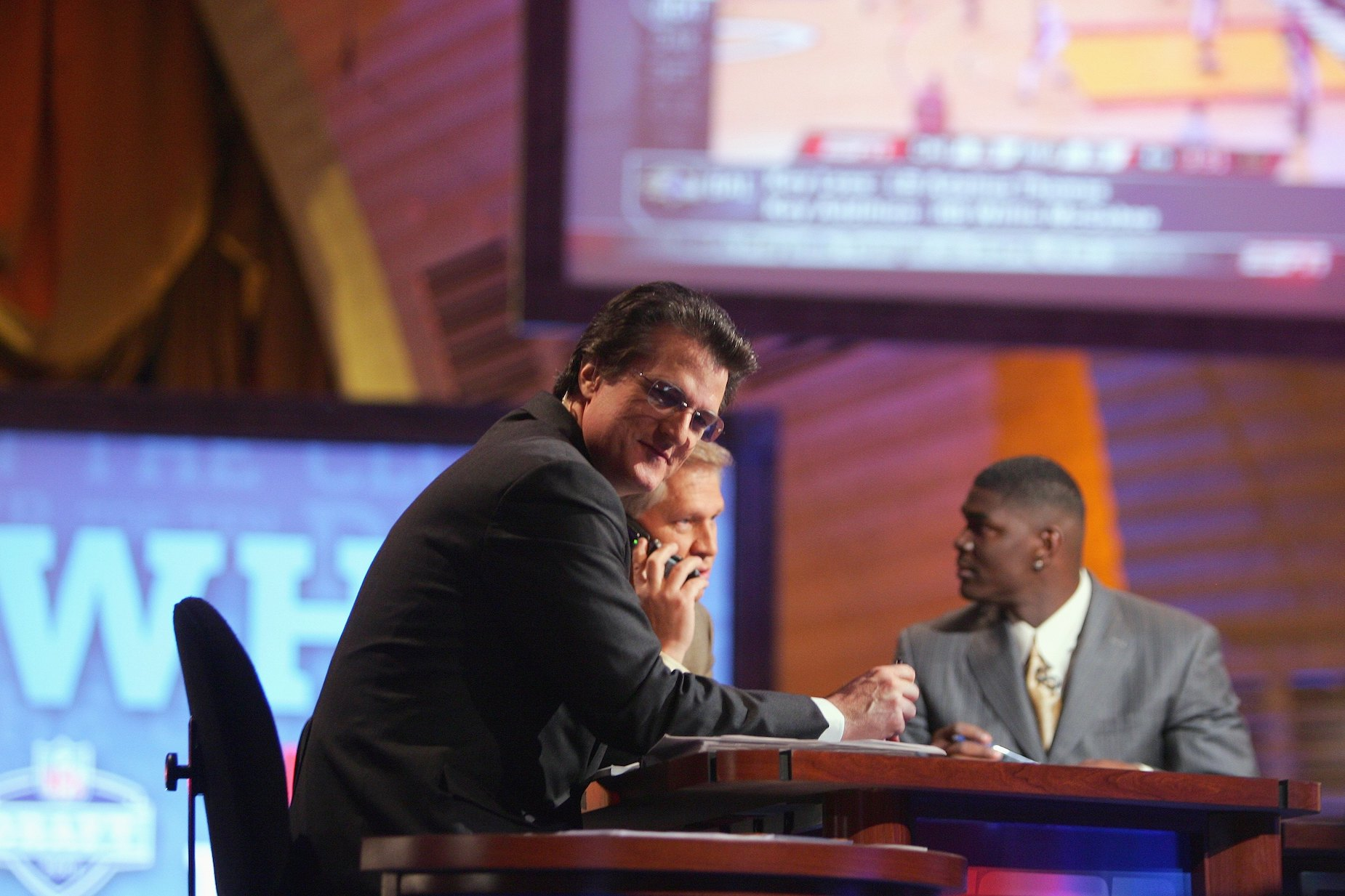 Mel Kiper Jr. looks on during the 2007 NFL draft.