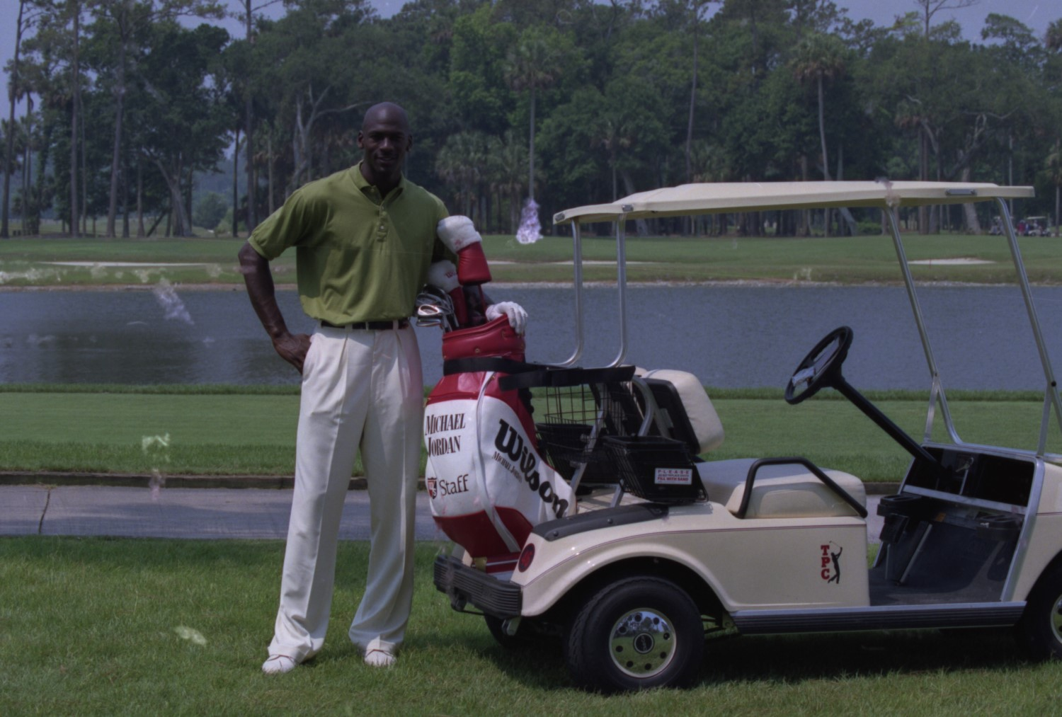 Retired NBA superstar Michael Jordan spends plenty of time on the golf course and is a member at several clubs. including Medalist in Florida, where he met aspiring PGA Tour player Dominic Bozzelli. PGA Archives/Getty Images