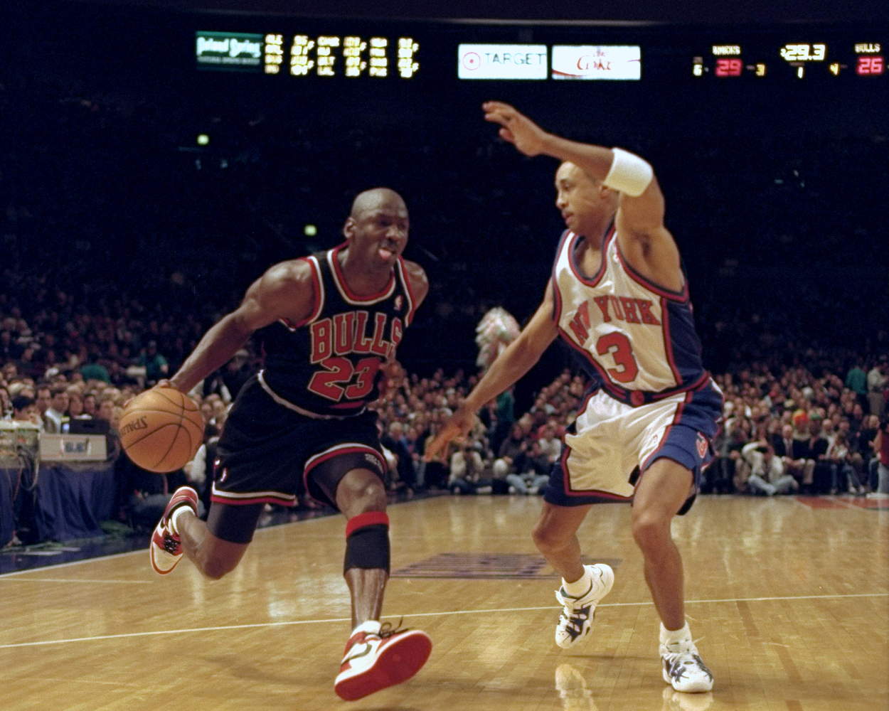 Even When Michael Jordan Is a Blur, He's the Center of Attention — and Focus of a Lawsuit
