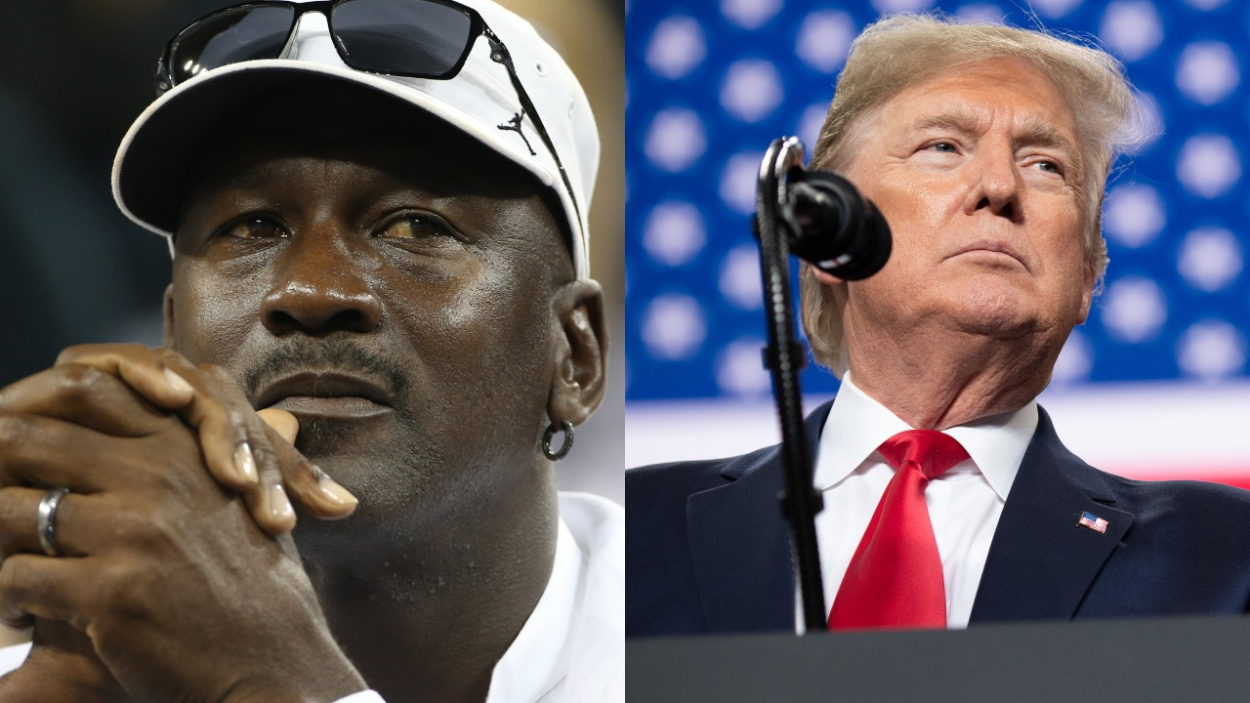 NBA and Bulls legend Michael Jordan and former U.S. president Donald Trump.