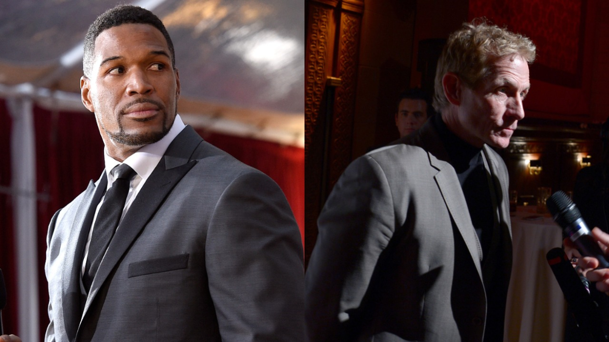 Michael Strahan Once Slammed Skip Bayless, Said the Last Time He Wore a Uniform Was When He Went 'Trick-or-Treating'