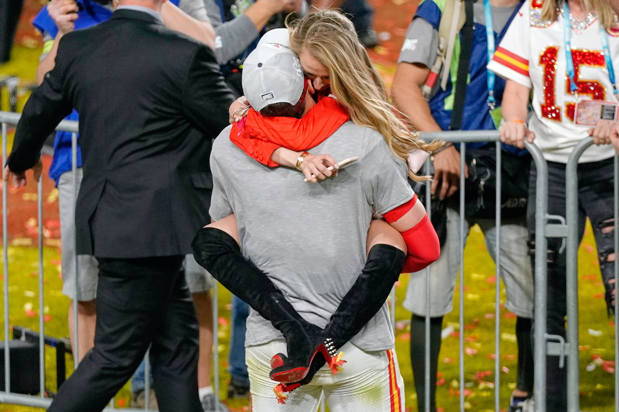 Patrick Mahomes is loving life as a new father, but he says fiancee Brittany Matthews is handling most of the dirty work as a young parent.