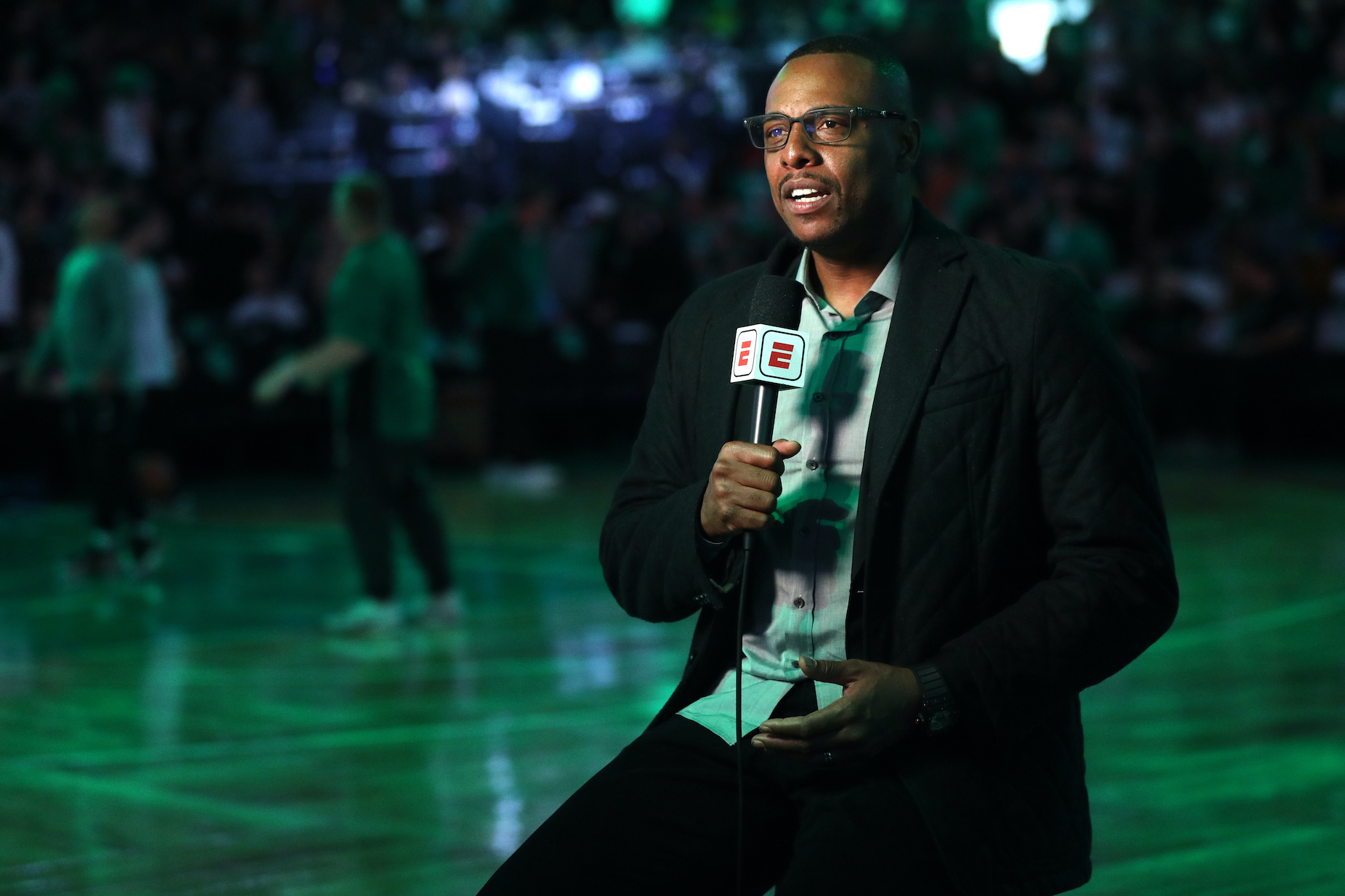 Former Boston Celtics star Paul Pierce working for ESPN ahead of the 2018 Eastern Conference Finals