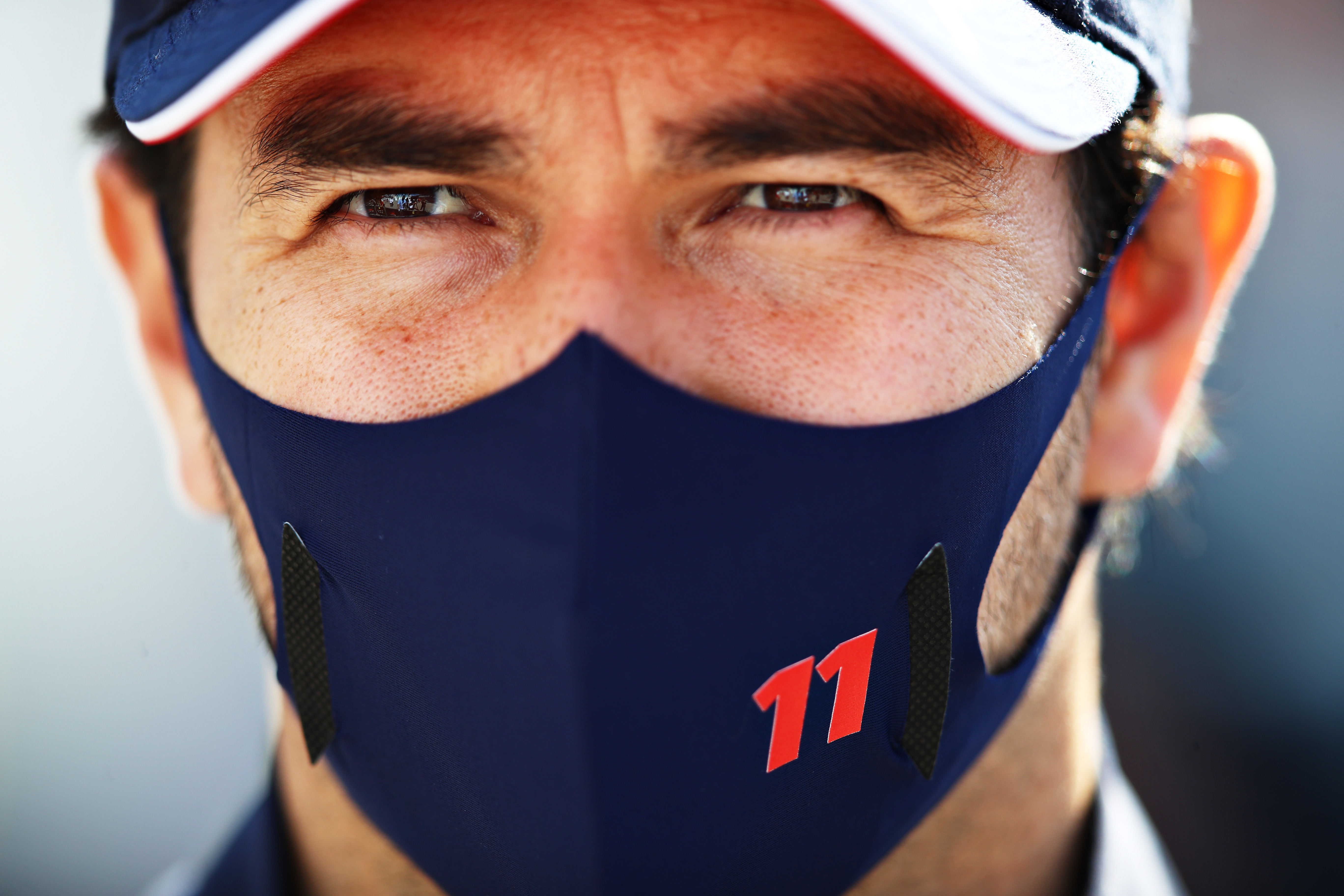 Sergio Perez of Red Bull Racing looks on ahead of the F1 Grand Prix of Portugal