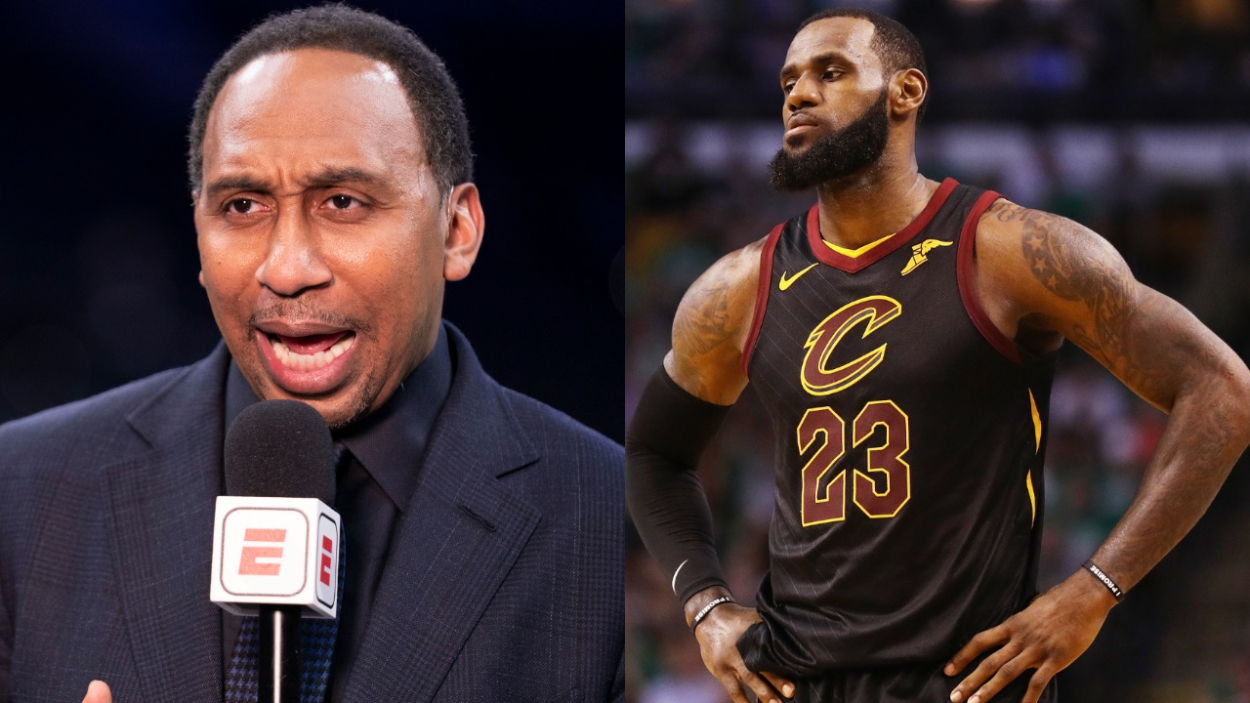ESPN's Stephen A. Smith and former Cavs star LeBron James.