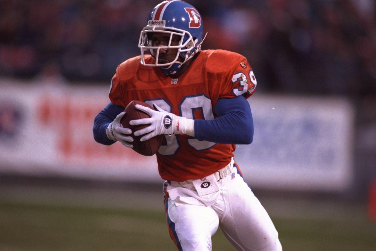 Denver Broncos running back Terrell Davis pictured in 1995