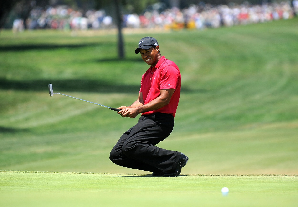 Tiger Woods during the 2008 U.S. Open playoff against Rocco Mediate