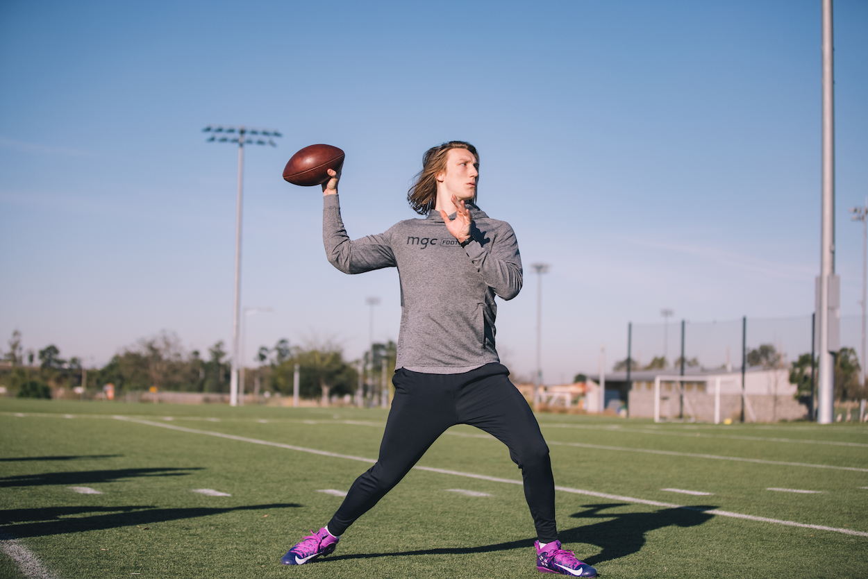 Trevor Lawrence is about to be the No. 1 pick in the 2021 NFL draft, but maybe he should've stayed on the pitch to pursue a soccer career.