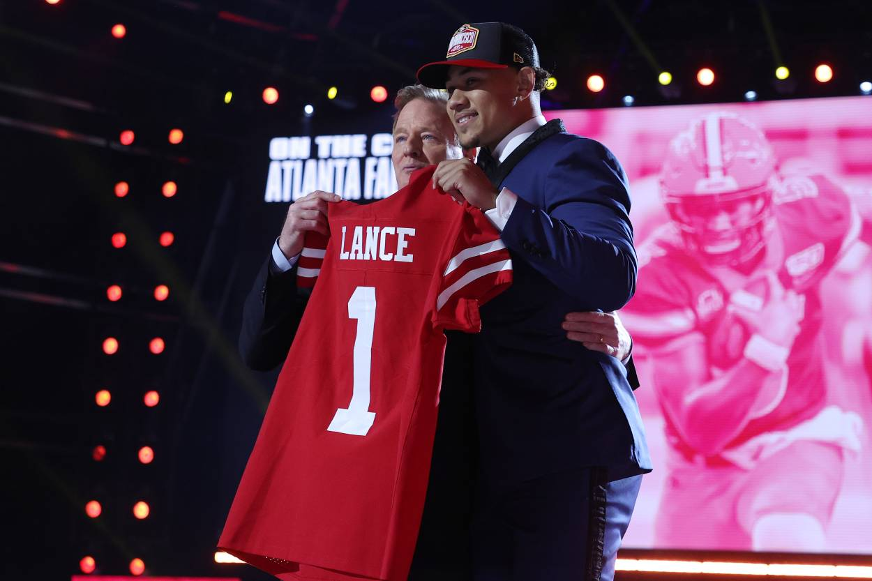 San Francisco 49ers rookie quarterback Trey Lance during the 2021 NFL draft.