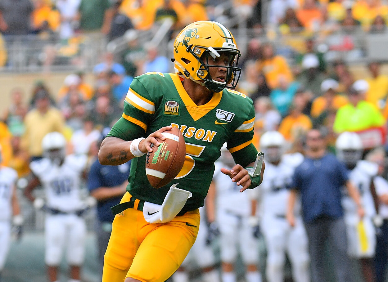 Former North Dakota State quarterback Trey Lance during the 2019 season.