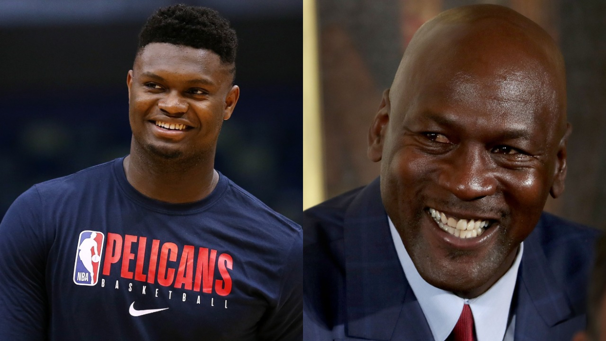 Zion Williamson Is a $10.2 Million Star but Can't Quite Describe His First Encounter With Michael Jordan: 'It Was Like Meeting Black Jesus'