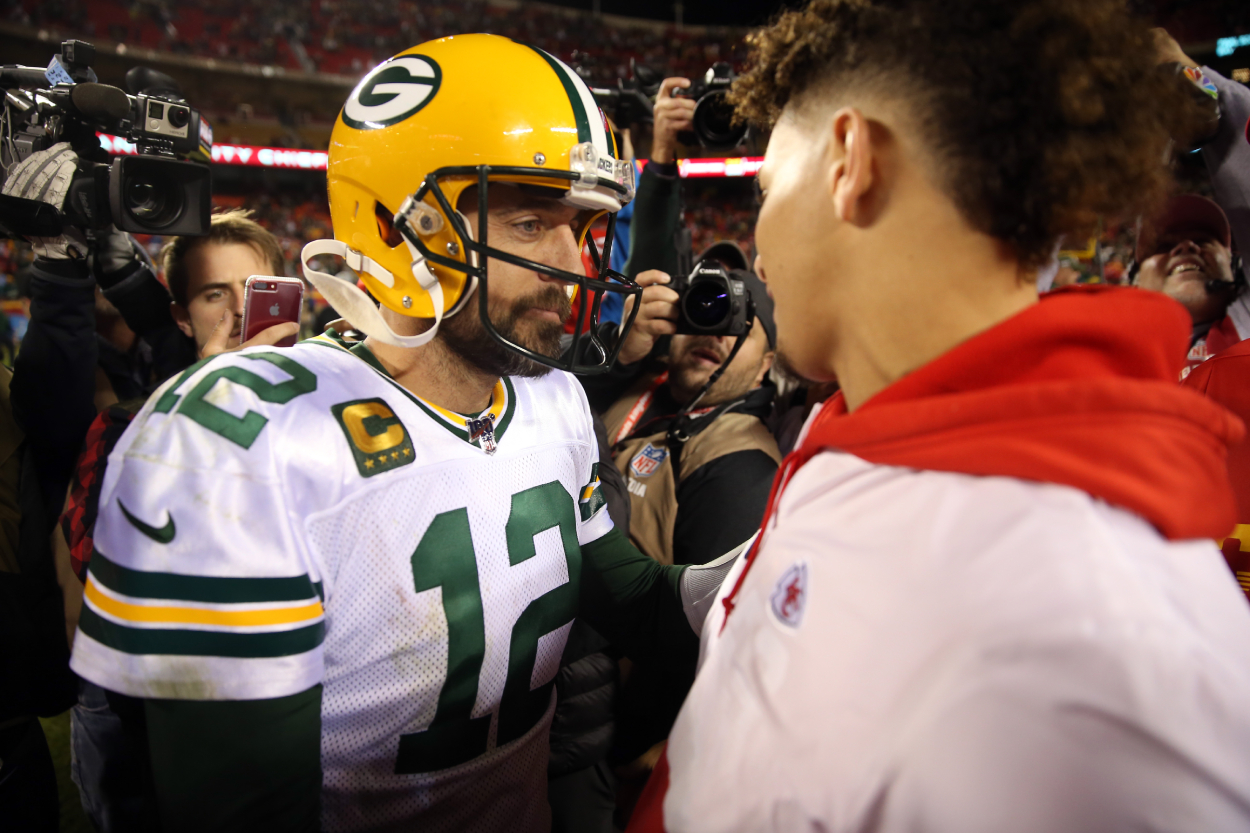 Aaron Rodgers Reportedly Wants to Send Patrick Mahomes 'to the Wild Card Every Single Year' by Following Peyton Manning's Blueprint