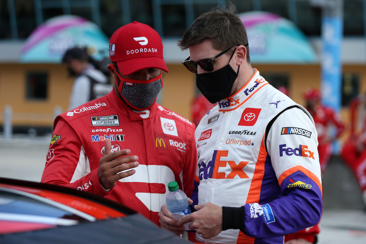 Denny Hamlin Openly Admits Bubba Wallace Has Struggled, Identifies Mistakes, and Spells Out What He Expects for Rest of Season