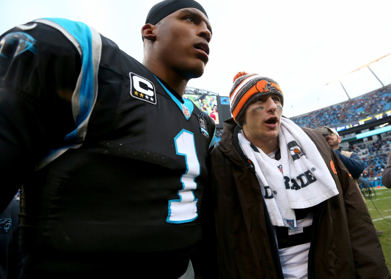 Johnny Manziel Just Gave Cam Newton a Ringing Endorsement That Has Nothing to Do With the Patriots' Quarterback Battle