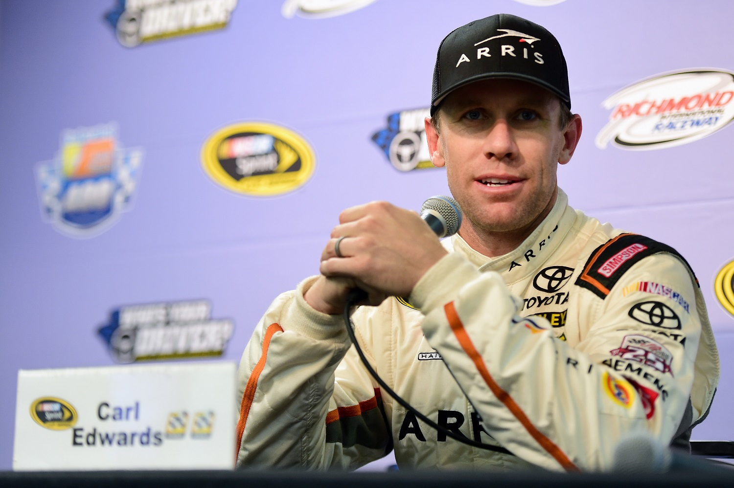 Carl Edwards is 13th on the list of career victories by a NASCAR driver. Jared C. Tilton/Getty Images