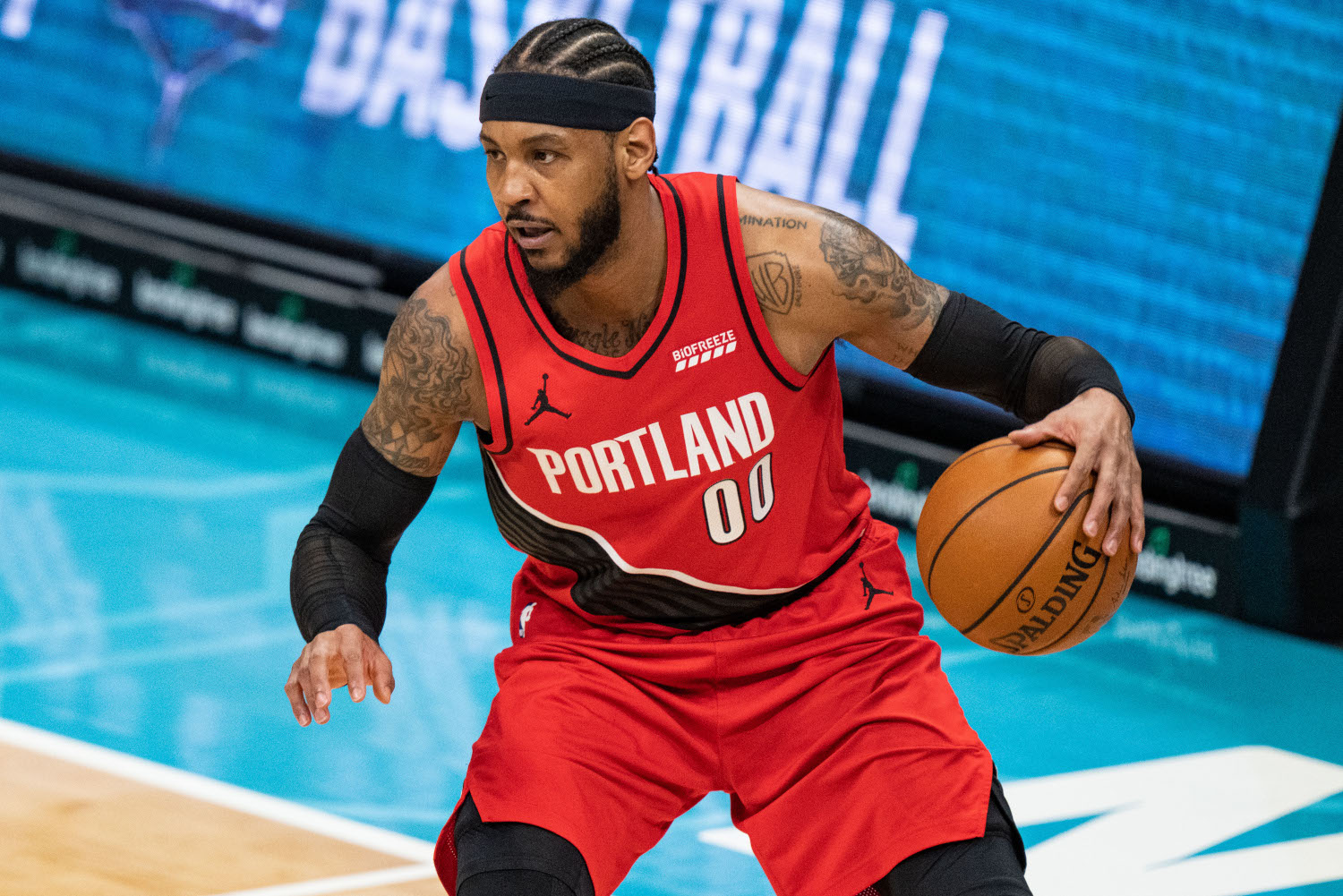 Carmelo Anthony of the Portland Trail Blazers