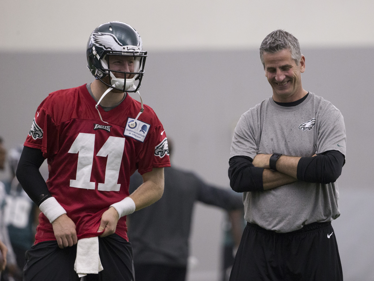 Colts Coach Frank Reich Clears up Popular Misconception About Carson Wentz and Himself