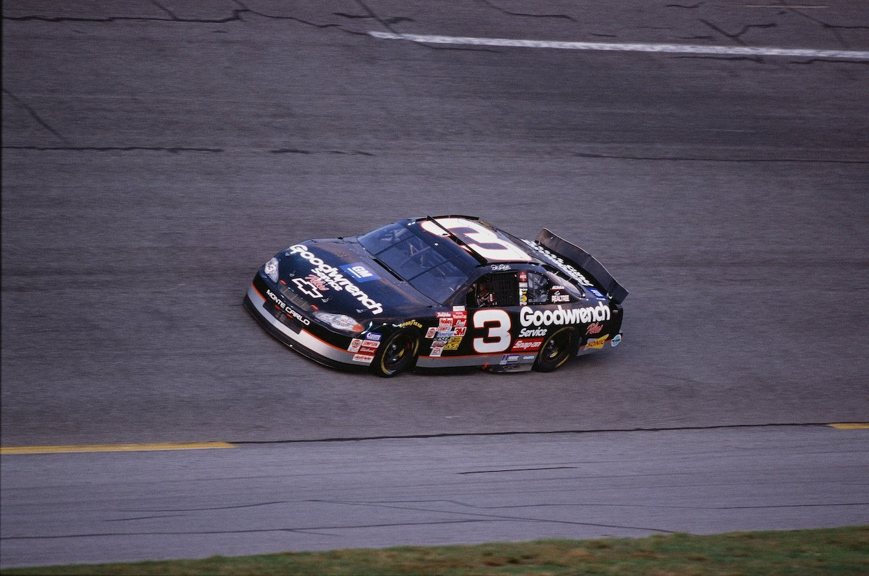 Dale Earnhardt in practice before 2001 Daytona 500