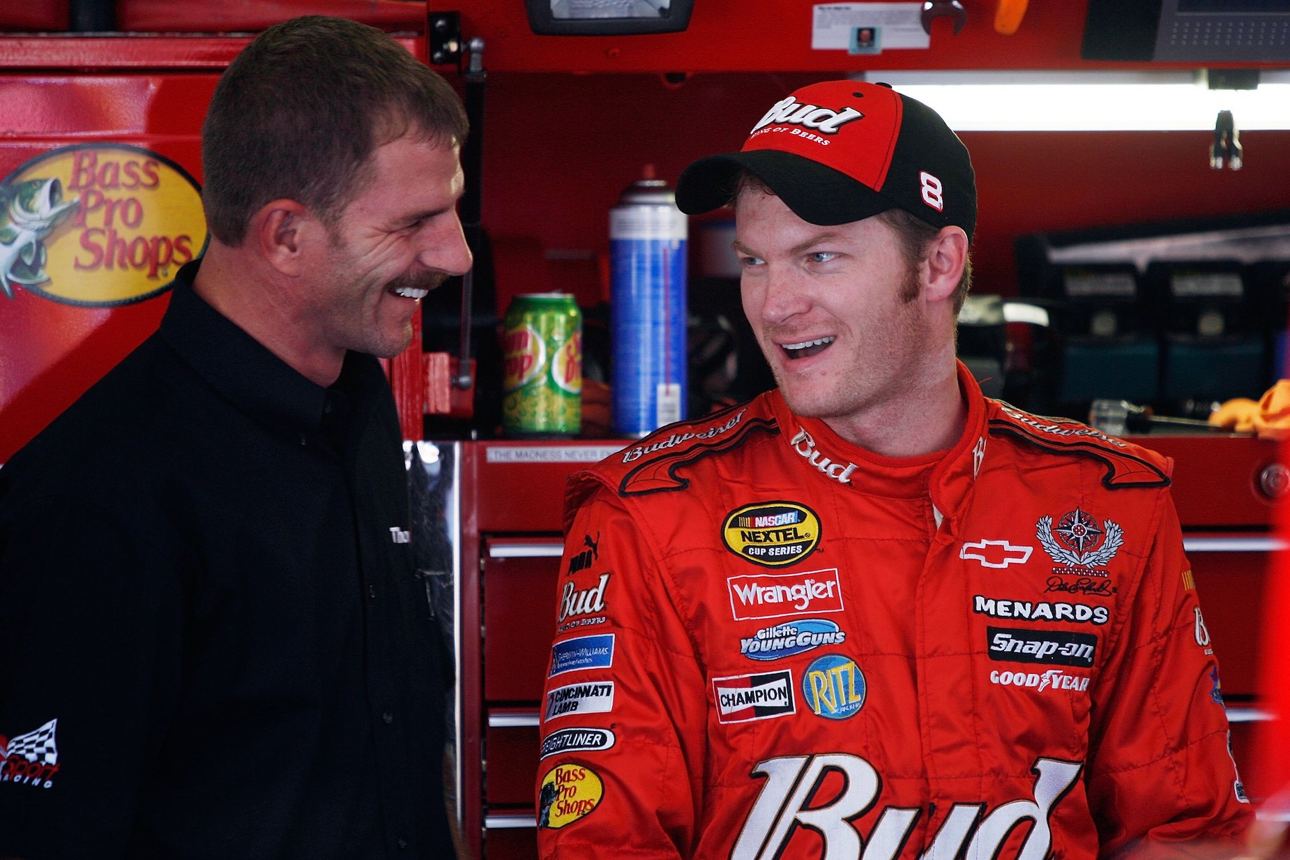 Brothers Kerry Earnhardt and Dale Earnhardt Jr.