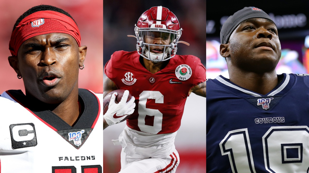 Former Alabama wide receivers Julio Jones, DeVonta Smith, and Amari Cooper.