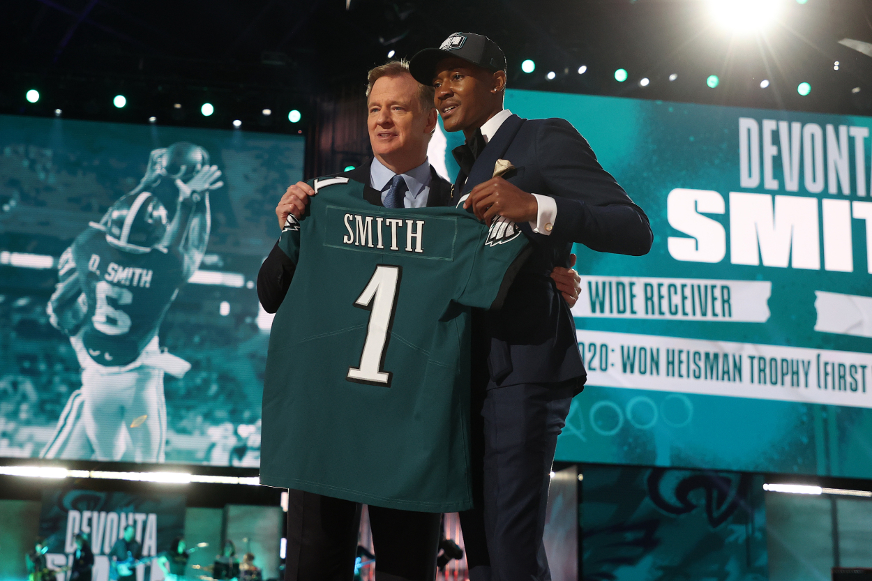 DeVonta Smith Hasn't Played 1 Game for the Eagles but Already Has Philly Fans Turning on Him
