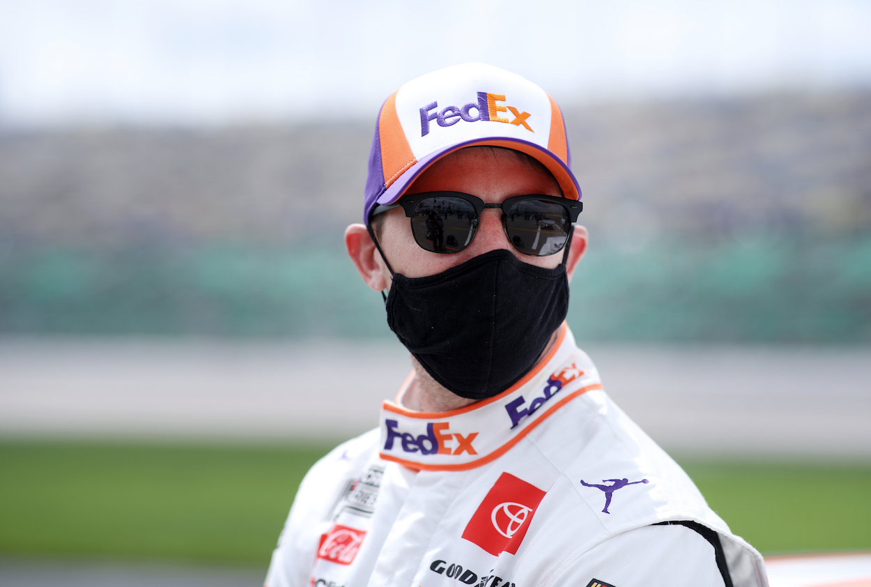 Denny Hamlin Impresses NY Giants QB Daniel Jones With Hoops Game and Proves He's Got Better Range Than 23XI Racing Team Co-Owner Michael Jordan Ever Did
