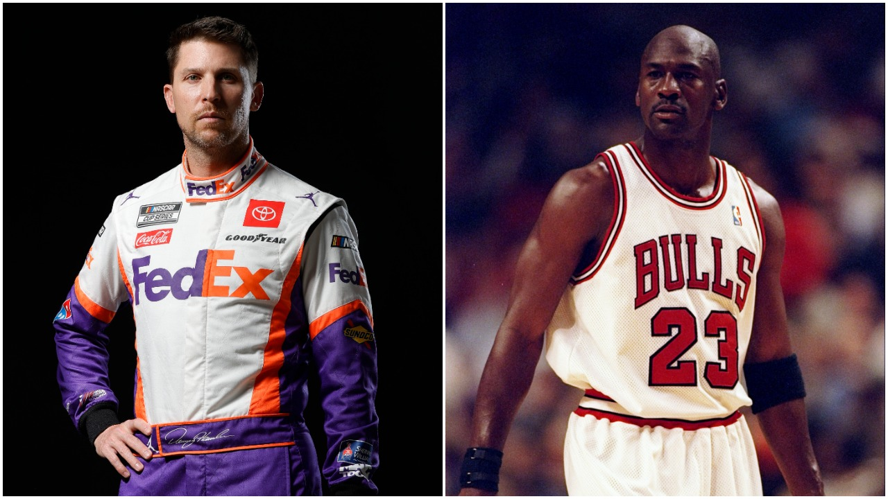 Denny Hamlin Mimicked One of Michael Jordan's Most Iconic NBA Moments Following a Dominating NASCAR Cup Series Victory