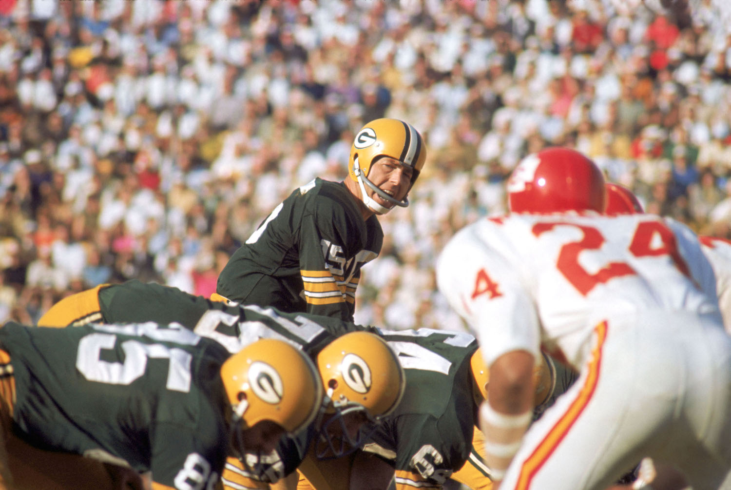 Bart Starr of the Green Bay Packers during Super Bowl I