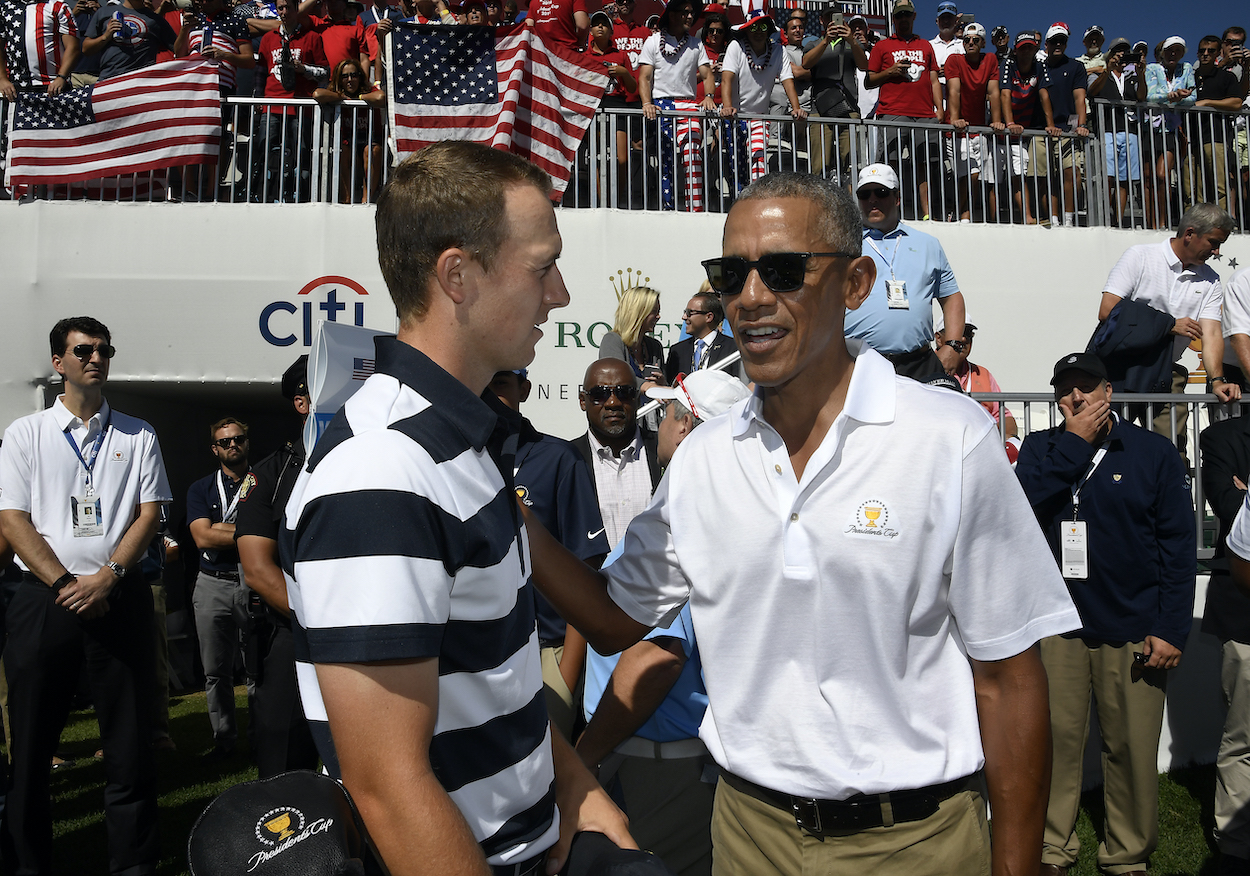 Former U.S. President Barack Obama got into Jordan Spieth's head on the golf course and used aliens to beat him in a match.