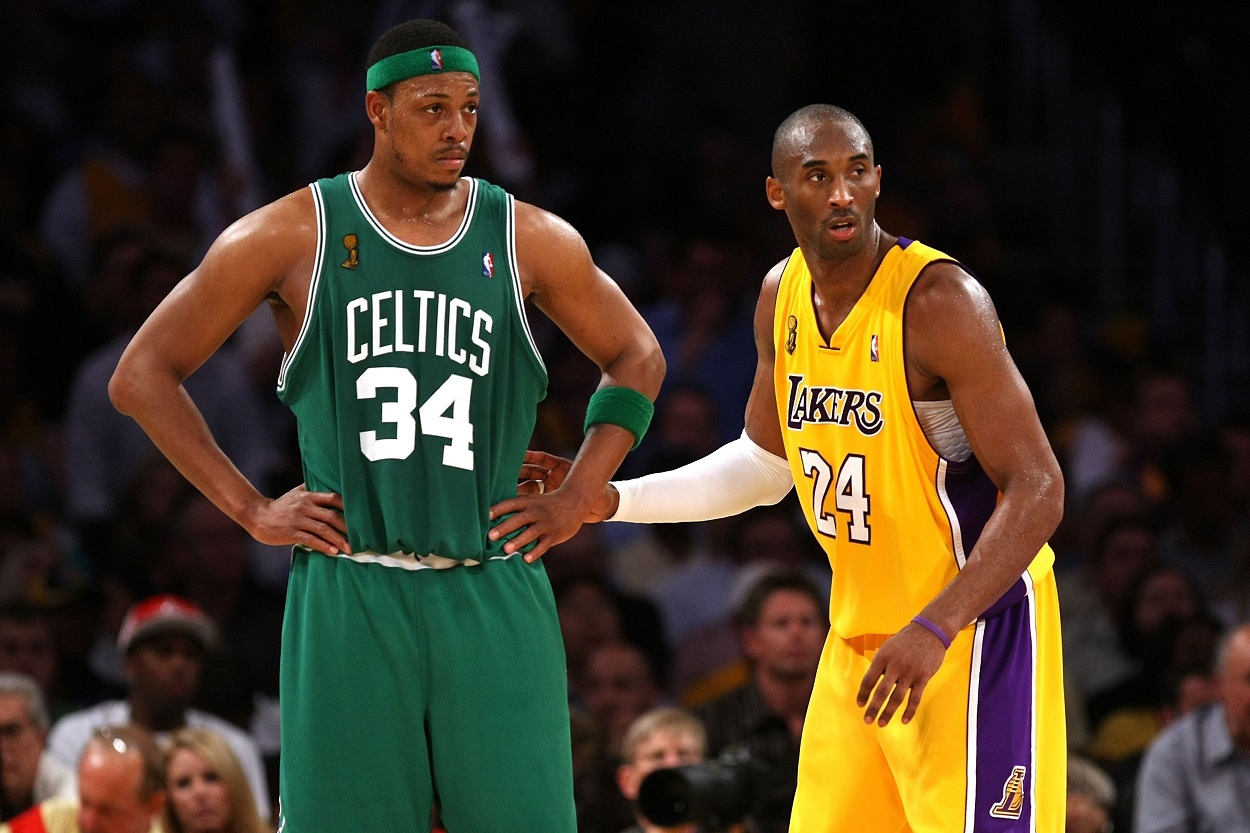 Kobe Bryant Found the Strength to Send a Subtle Jab at Paul Pierce After Tearing His Achilles