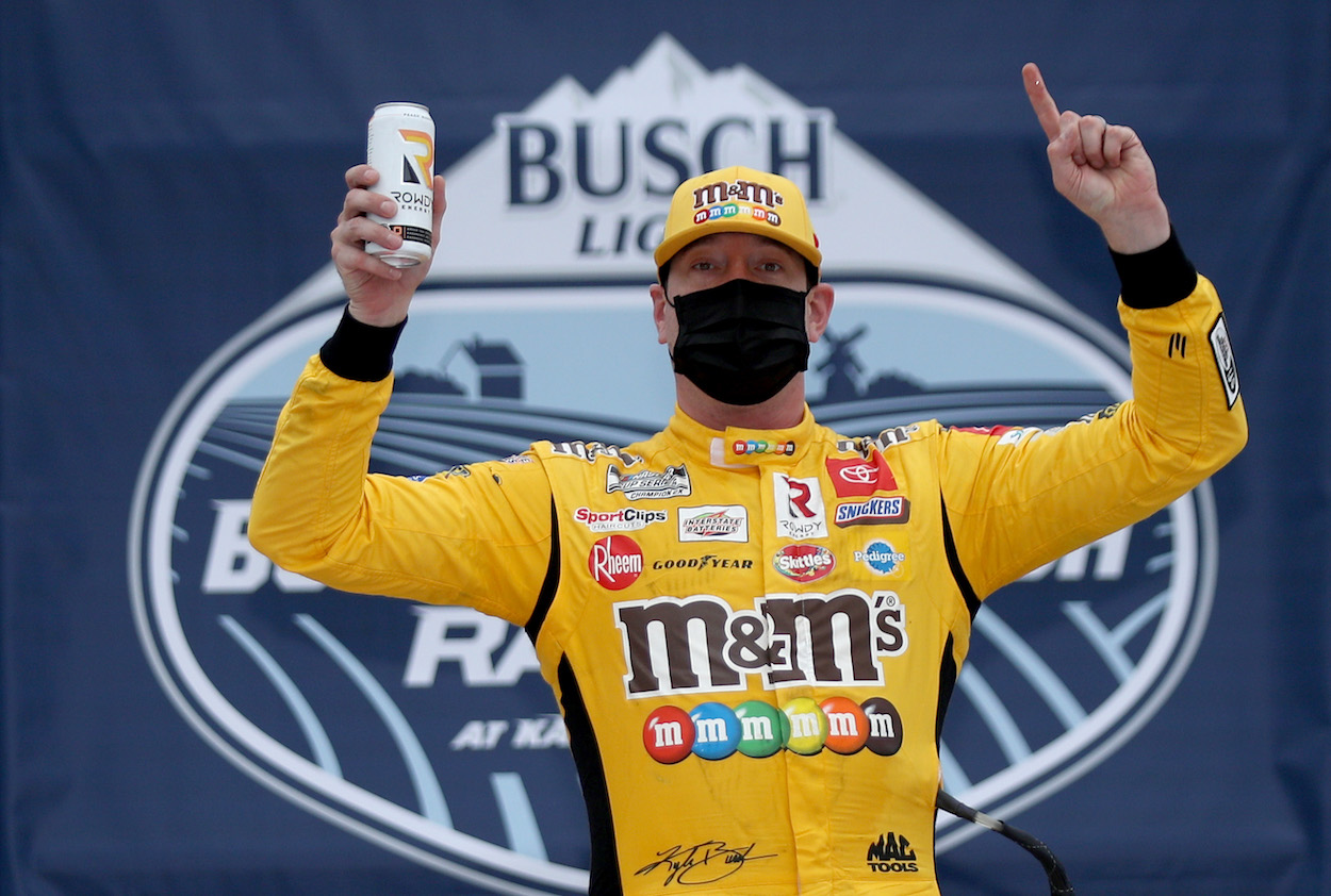 Kyle Busch Confronts and Mocks Booing Fans After Winning NASCAR Cup Series Race at Kansas
