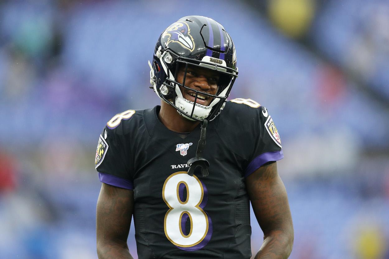 Baltimore Ravens Reunite Lamar Jackson With His Favorite High School Wide Receiver