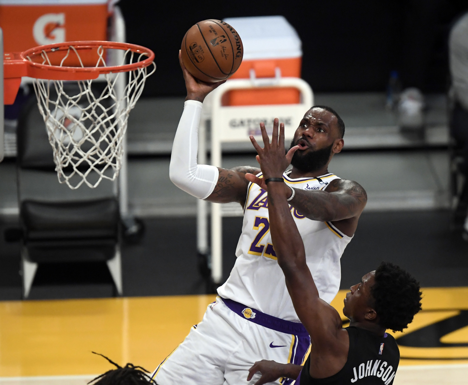 LeBron James of the Los Angeles Lakers isn't crazy about the play-in tournament
