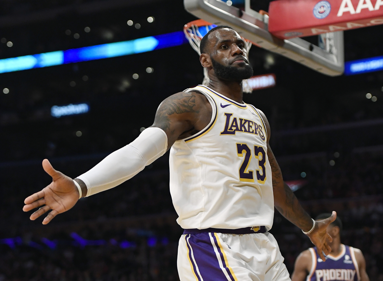 LA Lakers star LeBron James, who will play in the NBA Play-In Tournament this week.